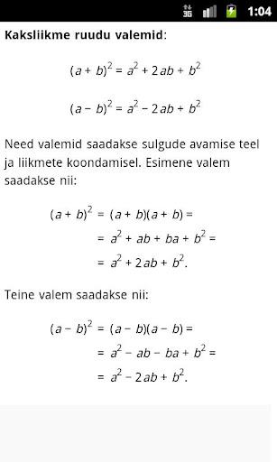 【免費教育App】Matemaatika minileksikon-APP點子
