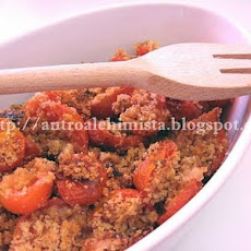 Cherry Tomato and Almond Crumble