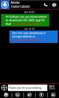 Screenshot of GO SMS Pro Windows Metro Theme