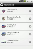 Screenshot of Georgia Soccer Tournaments
