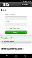Screenshot of Tele2