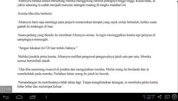 Screenshot of Novel Anugrah Bidadari