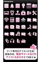Screenshot of Fantasy Rose for[+]HOMEきせかえテーマ