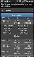 Screenshot of RaceIQ Drag Race Racing Log