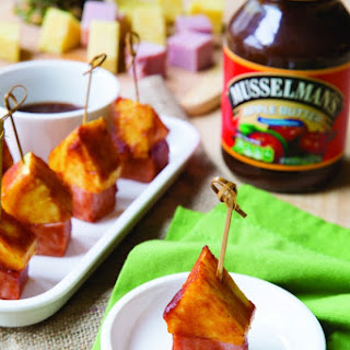 BBQ Sauce-Glazed Pineapple Ham Picks