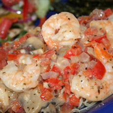 Shrimp and Veggies Italiano With Pasta