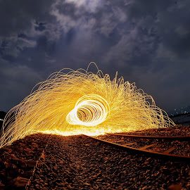 Steelwool by Lutfi Rachman - Abstract Light Painting