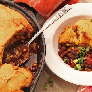 Quick and Easy Vegetarian Tamale Pie With Brown Butter Cornbread Crust
