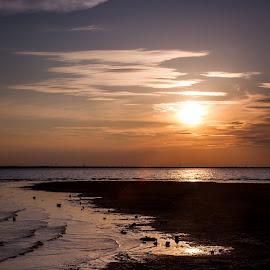 Sunset over Lake Hefner by Nicole Nichols - Landscapes Sunsets & Sunrises ( sunset )