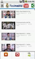 Screenshot of Real Madrid Tube
