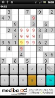 Screenshot of Sudoku game