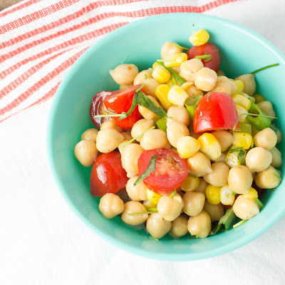 CHICKPEA SALAD & AGAVE LIME DRESSING