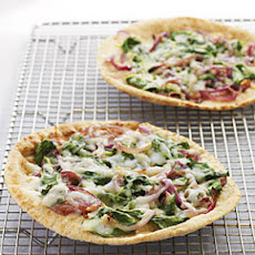 Whole Wheat Pita Pizzas with Spinach, Fontina, and Onions