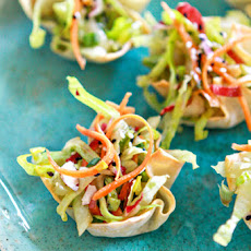 Asian Salad Wonton Cup Appetizers