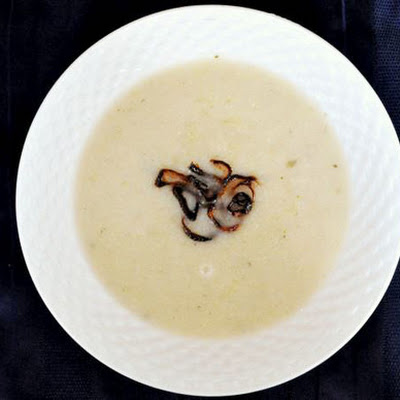 Cauliflower Soup with Crispy Shallots