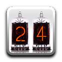 Nixie Time & Battery Widget icon