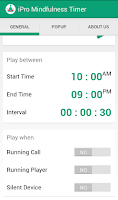 Screenshot of iPro Mindfulness Timer