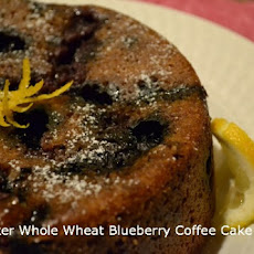 Slow Cooker Whole Wheat Blueberry Coffee Cake