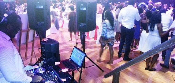 DJ-BLITZ ENTERTAINING GUESTS AT A WEDDING RECEPTION
