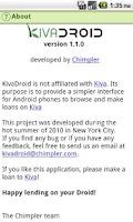 Screenshot of Kivadroid: Kiva on your Droid!