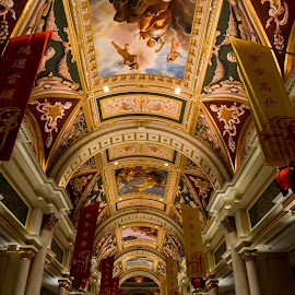Venetian Entry by Tom Shope - Buildings & Architecture Architectural Detail ( lobby, rome, venice, hotel, italy, vegas, venetian, Architecture, Ceilings, Ceiling, Buildings, Building )