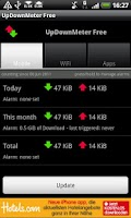 Screenshot of UpDownMeter Free