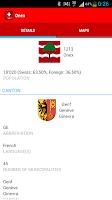 Screenshot of ZIP and Cantons of Switzerland