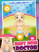 Screenshot of Baby Nose Doctor - Kids Game
