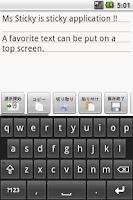 Screenshot of Ms Sticky (Postit app)