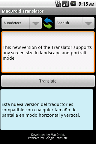MacDroid Translator
