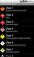 Screenshot of HazMat Pocket Guide