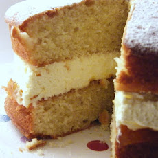 Victoria Sponge with Lemon Curd Cream & Jam