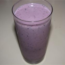 Blueberry, Banana, and Peanut Butter Smoothie