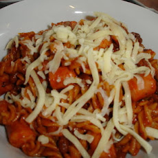 Fast and Easy  - Franks and Beans Pasta