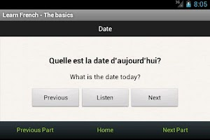 Screenshot of Learn French Phrases