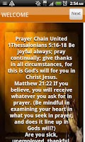 Screenshot of Prayer Chain United