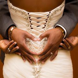 Hands by Rico Eche - Wedding Bride & Groom ( heart, hands, wedding )