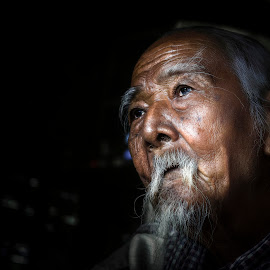 So far by Sơn Hải - People Portraits of Men ( countryside, think, old, thinking, viet nam, asia, vietnamese, old man, vietnam, oldman, elderly, asian )