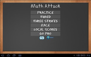 Screenshot of Math Attack