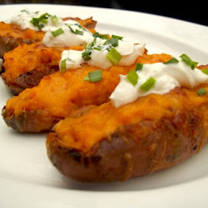 Sweet Potato Skins With Bacon Recipe