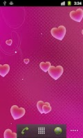 Screenshot of Hearts Pro Live Wallpaper