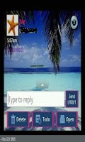 Screenshot of GO SMS THEME/tropicalbeach