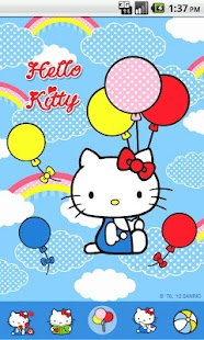 Hello Kitty Sky Balloon Theme - screenshot