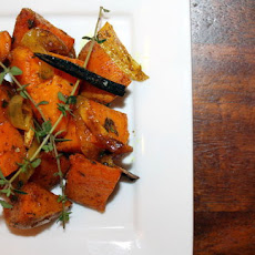 Roasted Curried-Vanilla Sweet Potatoes