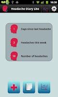 Screenshot of Headache Diary Lite