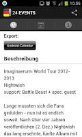Screenshot of 24 EVENTS › Eventguide