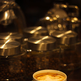 Cofee and Beans by Febrian Dwinanto - Food & Drink Alcohol & Drinks ( calm, coffee, cafe, night )