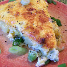 Potato, Red Pepper and Cheese Frittata