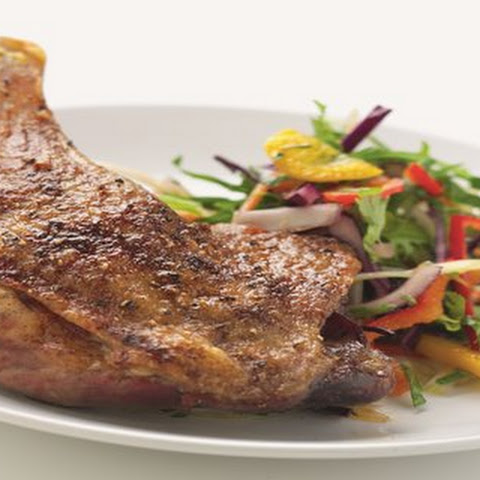 5 spice duck leg with Asian slaw