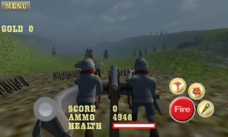 Screenshot of Cannon Shooter : Civil War Pro